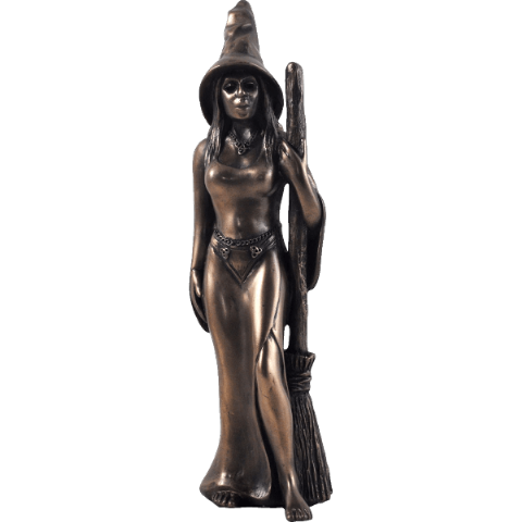 Bronze Resin Witch Sculpture